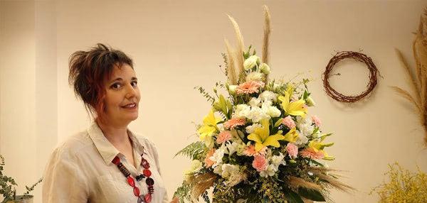 Curso básico de florista. El montaje del arreglo formal