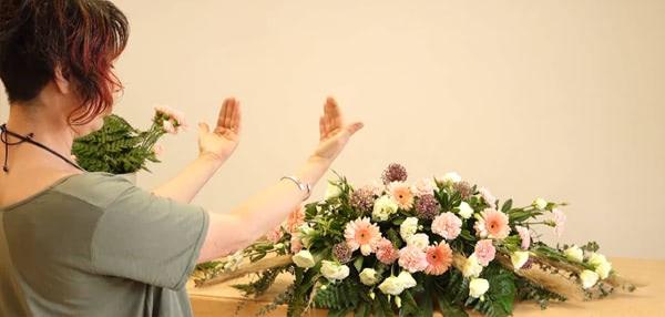 Curso basico de florista. Centro de mesa cláscio
