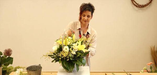Curso básico de florista. La cesta cláscia