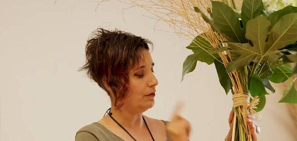 Curso básico de florista. El ramo asimétrico