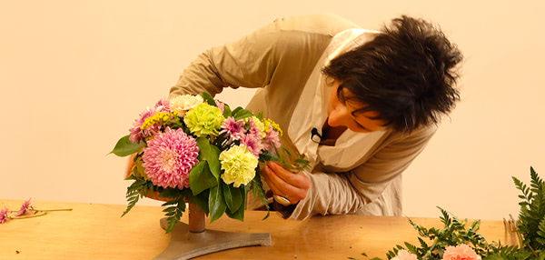 Curso básico de florista. Centro de mesa clásico para celebraciones. Celine Boroli.