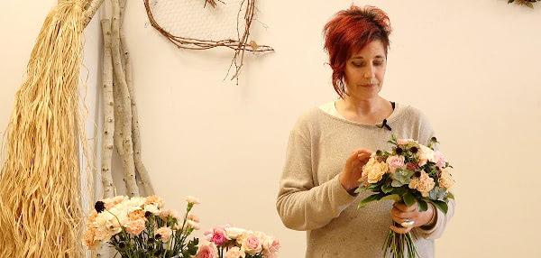 Curso formación floral. El ramo de Novia. Celine Boroli.